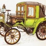 CANSTATT DAIMLER RIEMENWAGEN - rok 1898