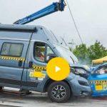 Kamper - Samochód kempingowy w teście zderzeniowym